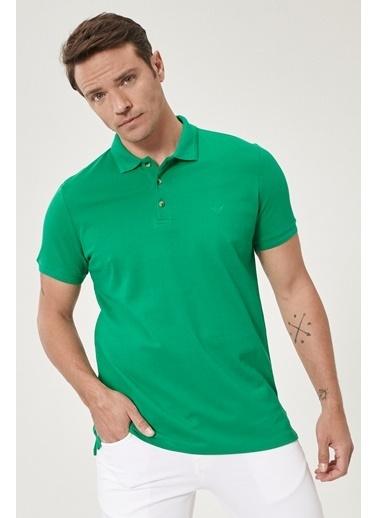 Beymen Business 4B4820200001 Slim Fit Tişört Polo Yaka Yeşil